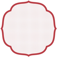 paper placemat die cut red white polka dots