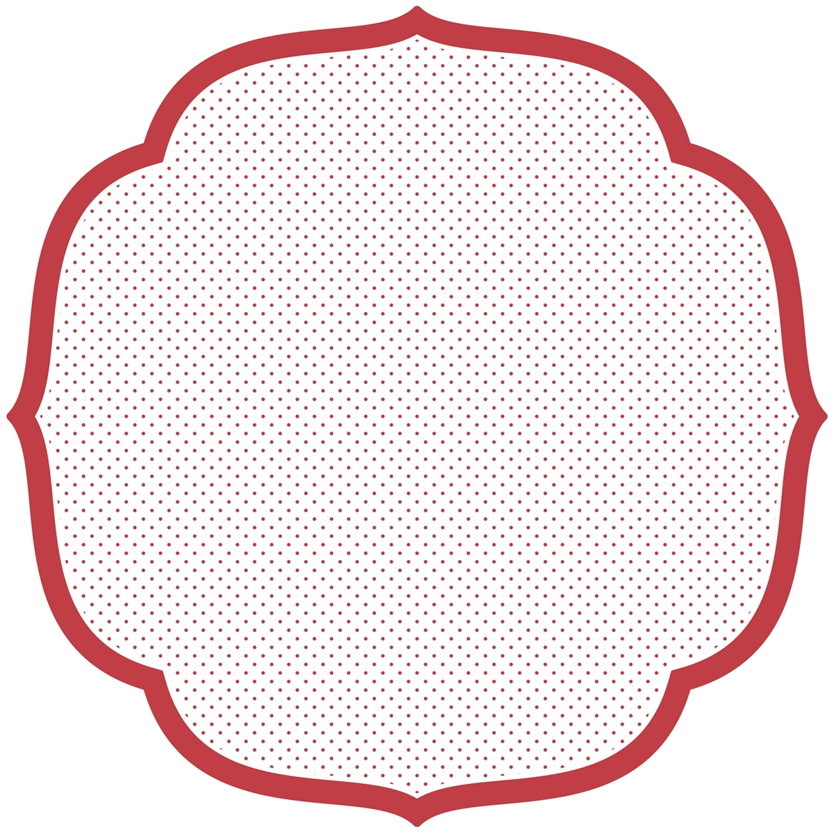 Paper Placemat Cut Red White Polka Dots