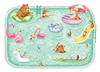paper placemat pool party aqua animals floats
