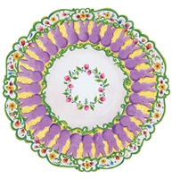 paper placemats die cut purple bunny rabbits flowers Peeps China dinner plate round