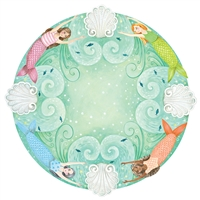 round mermaid paper placemat sheet Hester & Cook Elizabeth Foster