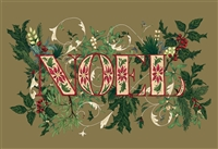 paper placemat pad Christmas NOEL holly