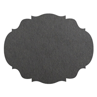 die-cut gray paper frame placemat