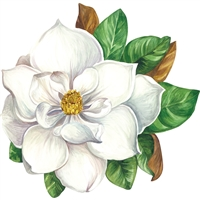paper placemat die-cut magnolia bloom winter Christmas
