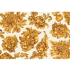 gold flora paper placemat sheets