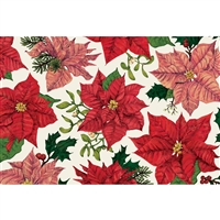 Christmas poinsettia paper placemats