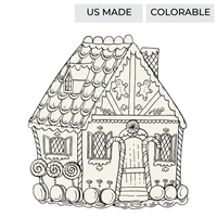 gingerbread house paper placemats coloring Christmas