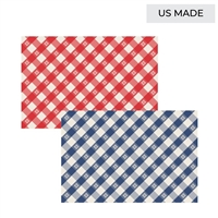 paper placemat pad red blue check