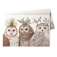 Winter Owls Placemats - Luxury USA-Made Home Décor | BSEID