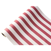 table runner paper stripe white red long disposable soy USA