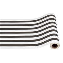 Hester & Cook Paper Table Runner - Classic - Black Stripe -