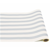 table runner paper stripe white silver long disposable soy USA