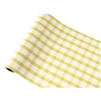 paper table runner yellow white painted check