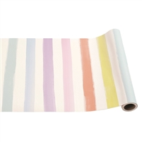 paper table runner pastel sorbet sherbet stripe painted