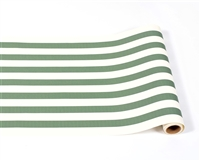paper table runner stripe green white
