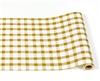 Gold Painted Check Table Runner for Christmas & Dinner Parties