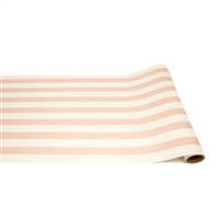 light pink stripe paper table runner Hester & Cook