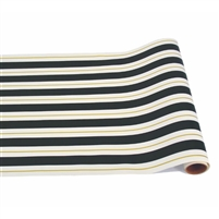 paper table runner black white gold stripe