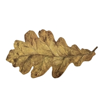 paper table accent die cut leaf oak gold autumn fall disposable placecard