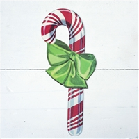 paper place card table accent candy cane red green