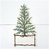 paper table place card accent cedar tree