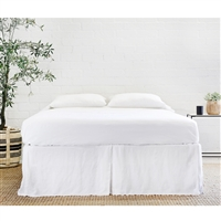 Pleated Linen Bed Skirt (color + size options)