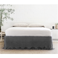Pom Pom at Home Vintage Crochet Bed Skirt in Midnight