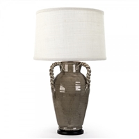 Ceramic Pottery Table Lamp - Grey