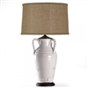 Ceramic Pottery Table Lamp - White