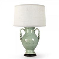 Ceramic Pottery Table Lamp (Aqua) - Unique Designer Lighting