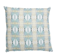 accent toss occasional pillow polyester feather down insert colorful light blue taupe abstract