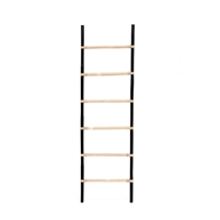 leaning blanket towel magazine quilt decorative ladder black natural rattan