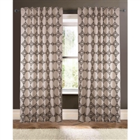 natural black embroidered curtain drapery panels