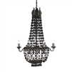 chandelier rustic metal diamonds swags weathered aged 8-bulbs