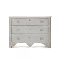 Painted Chest of Drawers - Patric - Scroll Details