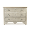 White Washed Chest of Drawers - Patric - Wood Top