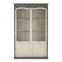 Wire Front Shelving Cabinet - Alexander - Two Tone