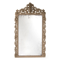 Designer Luxury Wall Hung Ornate Carved Wood Mirror - Estelle