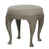Petite Scroll Leg Stool - Leo - Distressed Painted