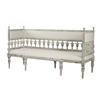 European Influenced Bench - Isabel - Distressed White