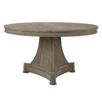 Round Pedestal Dining Table - Ignas - Raw Wood