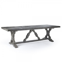 table rectangle long dining grey fiberglass stretcher outdoor