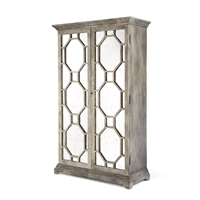 Antique Mirrored Fretwork Cabinet - Gerald