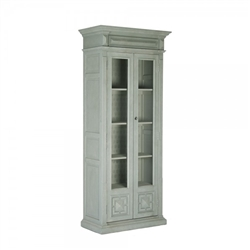 cabinet tall gray molding wood glass doors carved applied moldings interior wallpaper