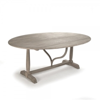 dining table oval foldable adjustable transitional grey wood