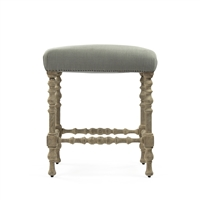 Upholstered Top Bar Stools - Giselle (size options)