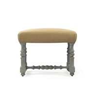 Upholstered Top Vanity Stool - Jeanne