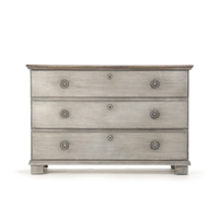 3-Drawer Chest - Bill - Washed Gray Pine - Surf Inspired Home D�cor