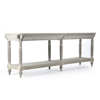 Console - Bryce - White Washed - Distressed