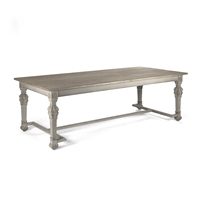 Rectangular Dining Table with Stretcher - San Francisco